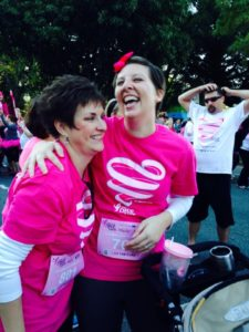 Nikki and Melody ate the Susan G. Komen Race in 2014