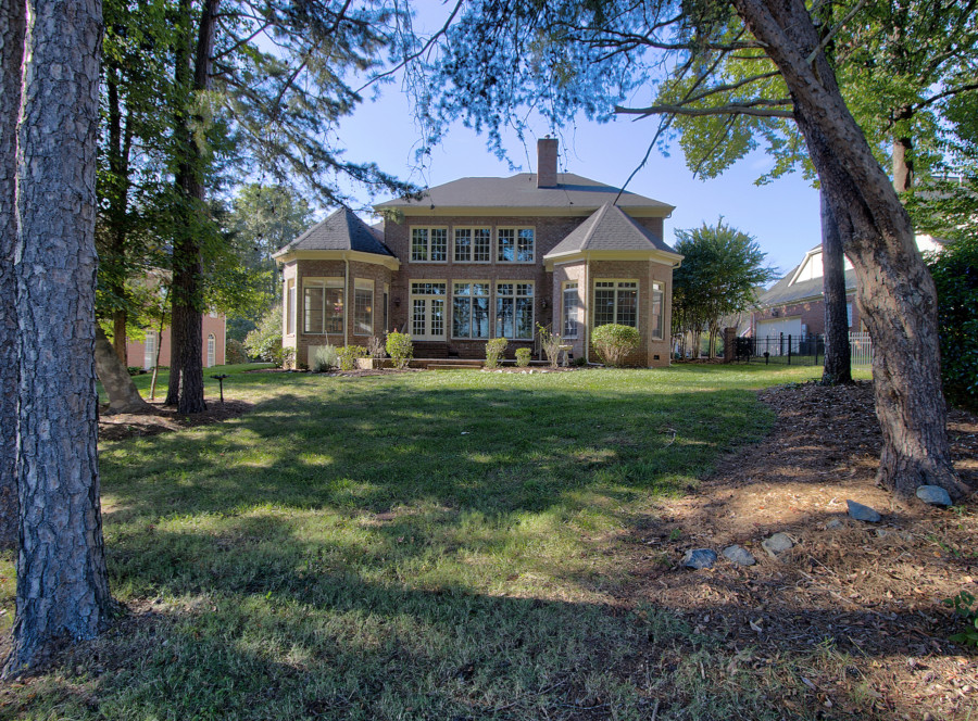 Brick home on golf course